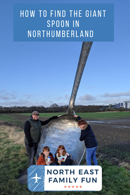 How to find the Giant Spoon in Cramlington, Northumberland