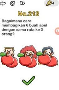 bagaimana cara membagikan 3 buah apel