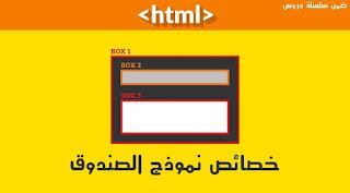 خصائص نموذج الصندوق في CSS