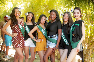 Miss Earth candidates take one last eco-tour at Playa Calatagan