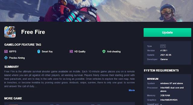 cek detail app gameloop update