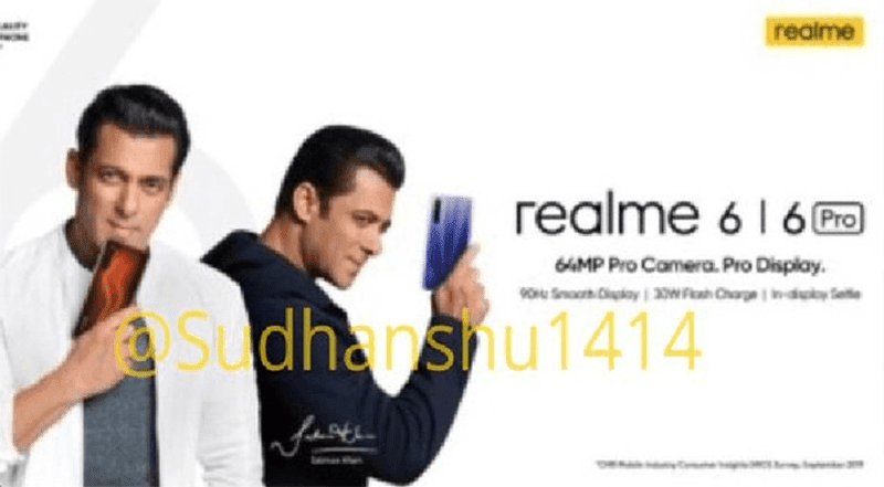 Leaked realme 6 and 6 Pro poster