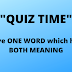 Give ONE WORD which has Both Meaning : Pencil Brand | with Answers