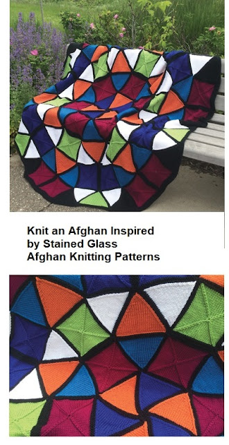 Stained Glass Afghan Knitting Pattern