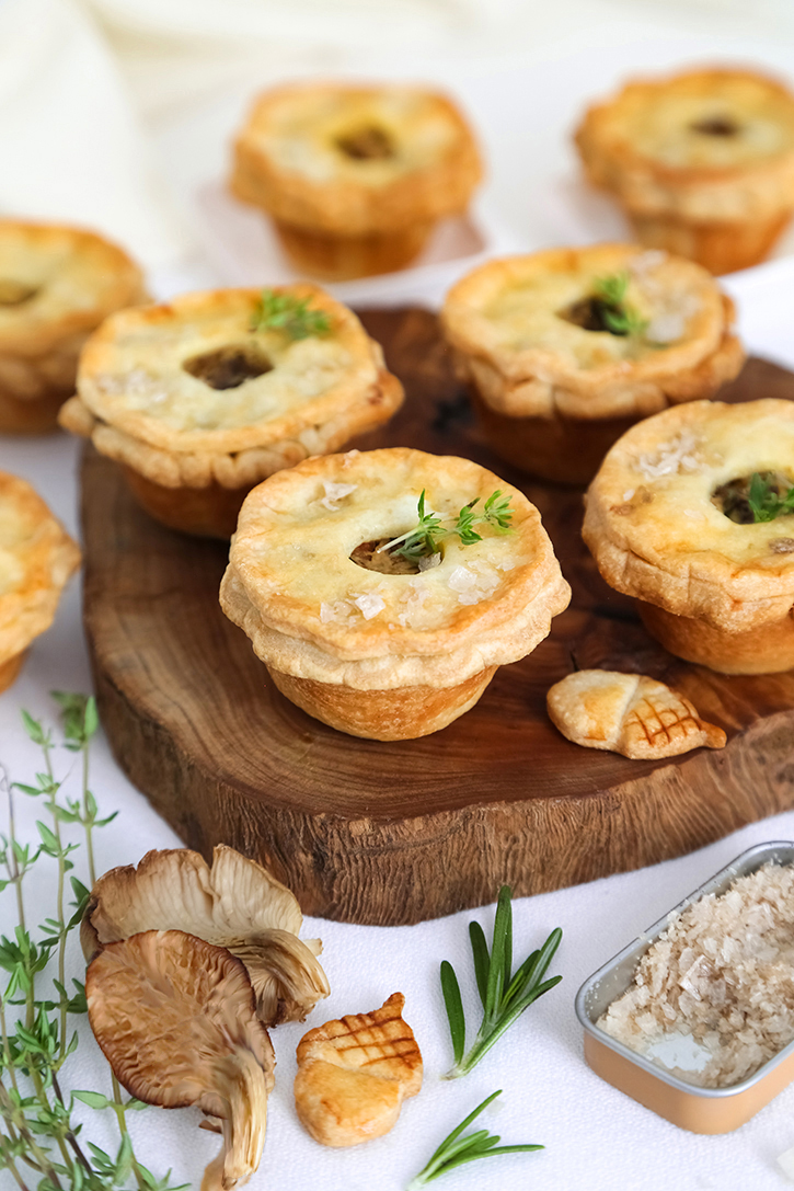 Mini Wild Mushroom and Goat Cheese Pies