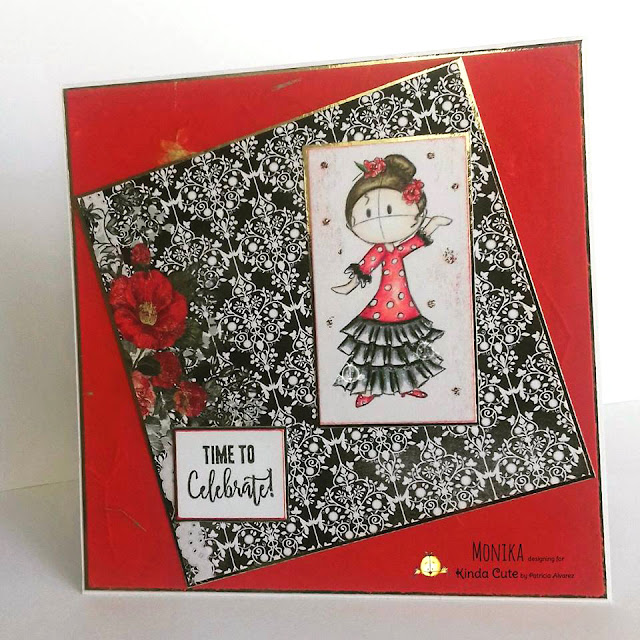 Celebration card with a Flamenco girl