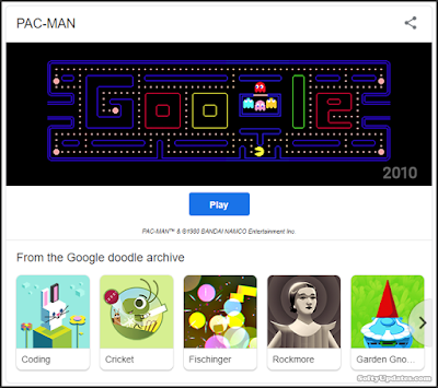 Doodle celebrates Arcade Games: PAC-MAN, Coding and more