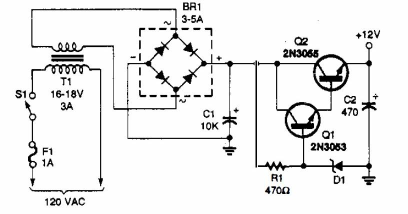 12v Power Supply Circuit Electronic Repairing