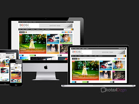 Deco Mag - 100% Responsive Magazine Blogger Template - Responsive Blogger Template