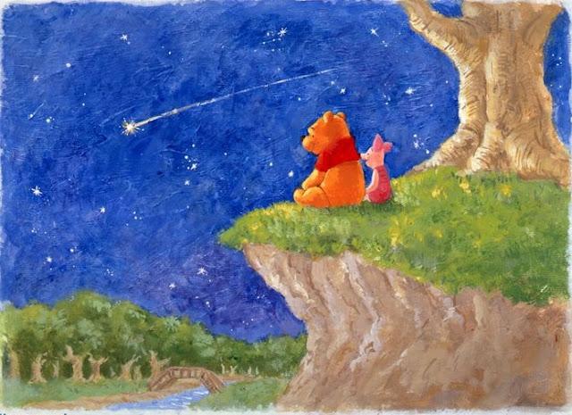 yıldız kayması, winnie the pooh, dilek tutmak