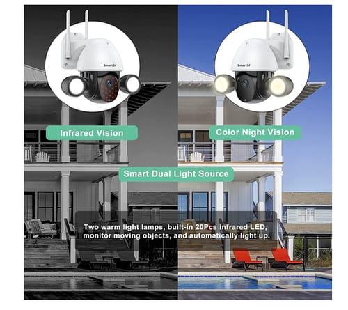 Tuya Floodlight PTZ 3MP WiFi Outdoor Security Camera
