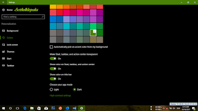 Aktifkan dark theme Windows 10