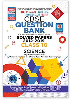 Class 10th Oswaal CBSE Question Bank for March 2020 Exams(Chapterwise & Topicwise)