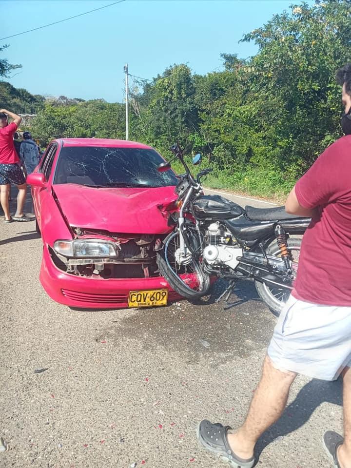Accidente en el Bajó de la Habana, vía a Tubará