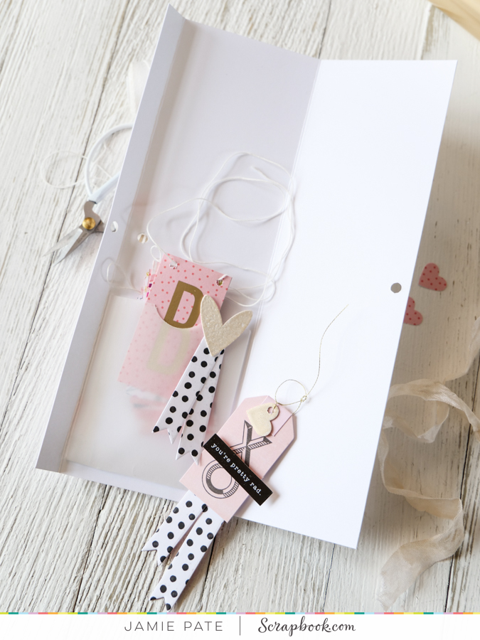 How to Valentines with SlimLine Card and Hidden Pocket by Jamie Pate