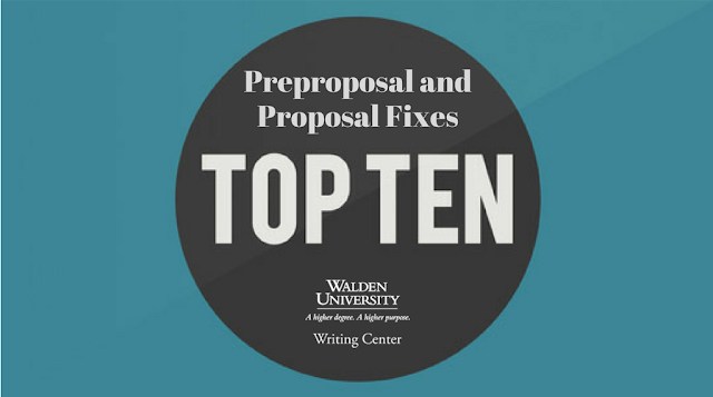 Tip 10 Preproposal and Proposal Fixes