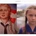 Ativista Greta Thunberg é comparada à garota de cartaz nazista