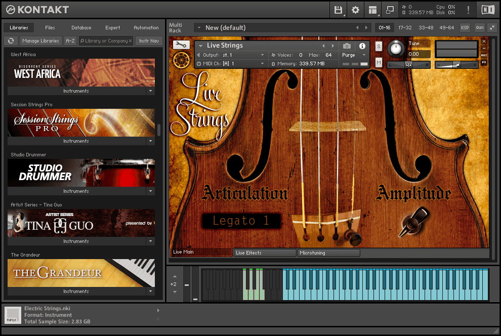 Neocymatics - Hybrid Strings KONTAKT Library live strings