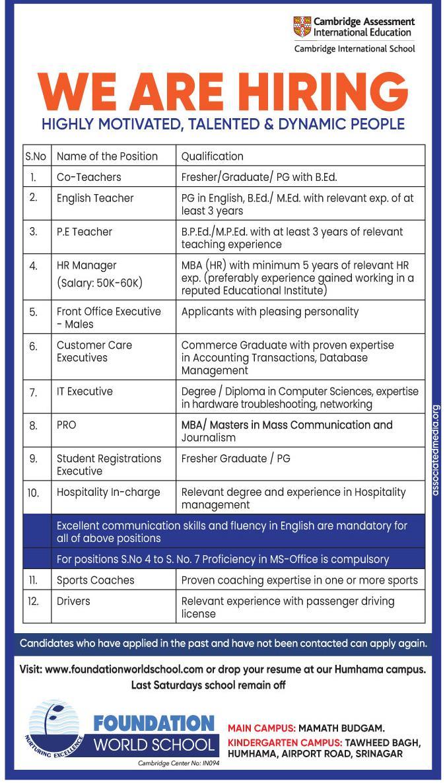 Latest recruitment, New jobs, Jobs in J&K, Humhama, Airport, Airport Road Srinagar,