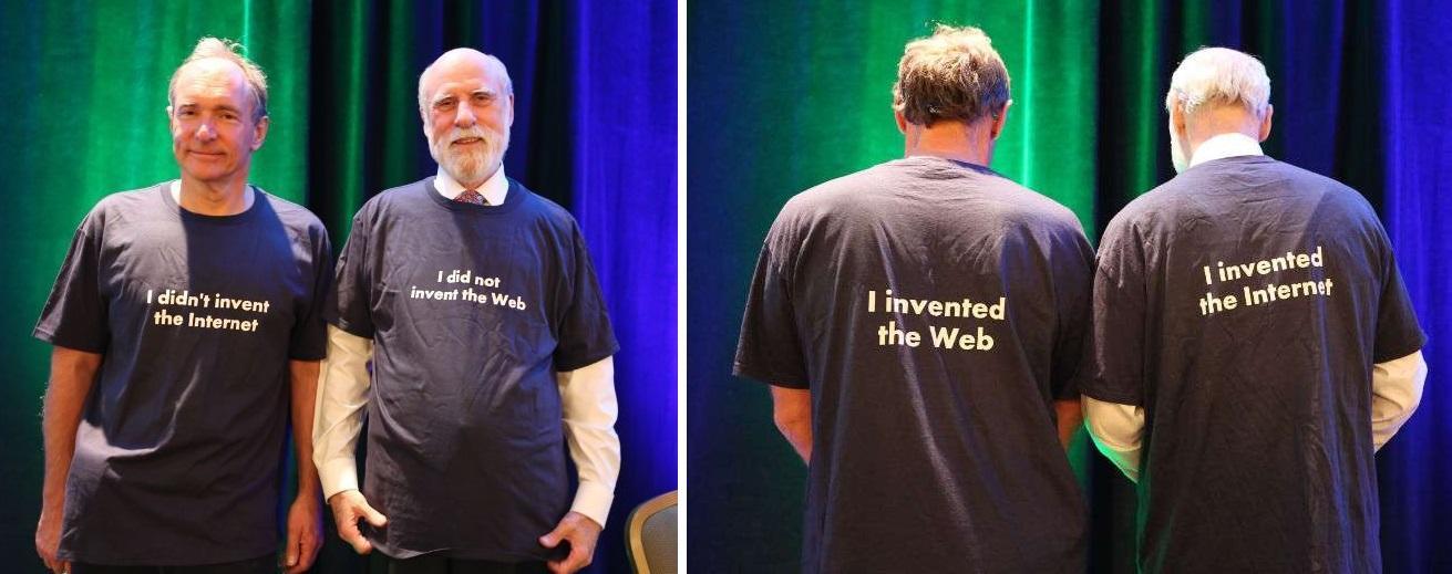 Vint Cerf and Tim Berners-Lee