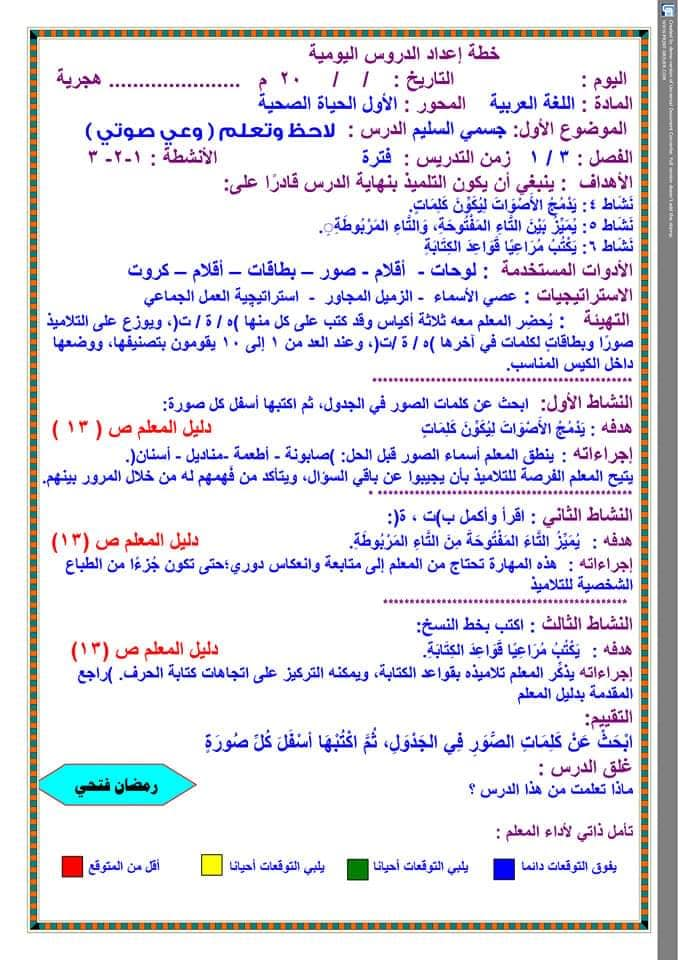 تحضير دروس نافذة اللغة العربية للصف الثالث الابتدائي  أ / رمضان فتحي 14