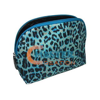 leopard printing cosmetic purse