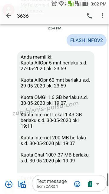 Cara Cek Kuota Telkomsel 4G yang sedang digunakan