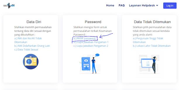 Reset password akun SSCASN 2021
