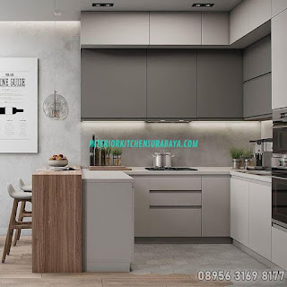 Kitchen Set Finishing aluminium di Surabaya
