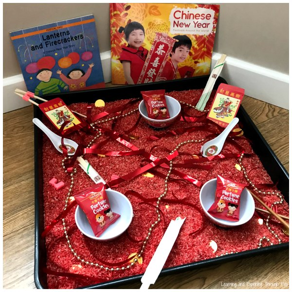 Chinese New Year Rice Sensory Play