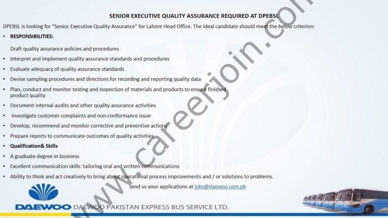 Jobs in Daewoo Pakistan Express Bus Service Ltd