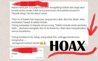 Malam nanti jam 3:25 pagi bulan akan mengelilingi Ka'bah | HOAX ato TIDAK?