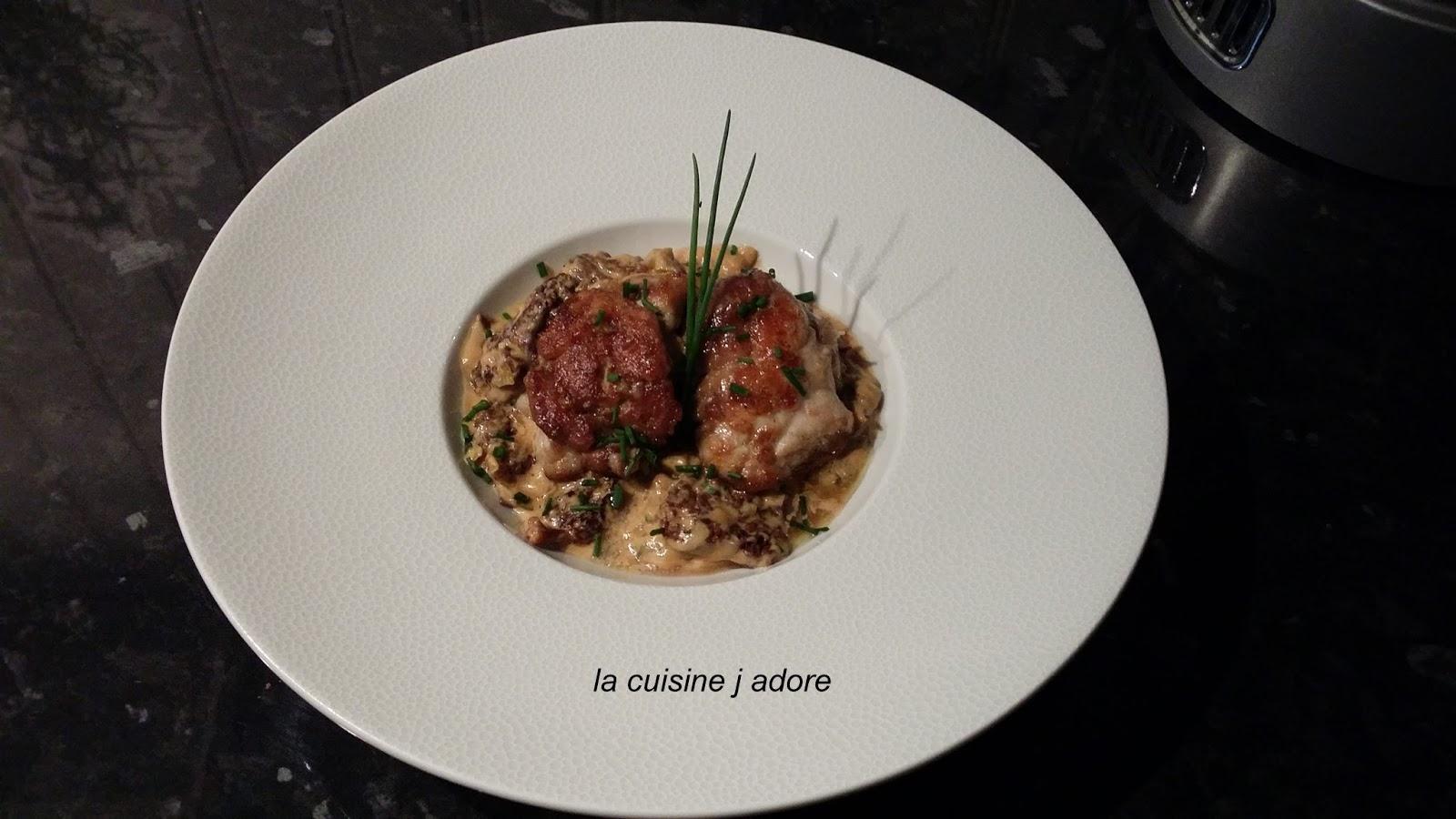 la cuisine j adore ris de veau croustillant morilles a la creme recette de l atelier des
