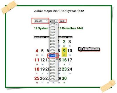 cara menggunakan aplikasi kalender hijriyah islam online - kanalmu
