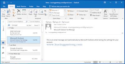 Tutorial Cara Setting Gmail di Microsoft Outlook 2016