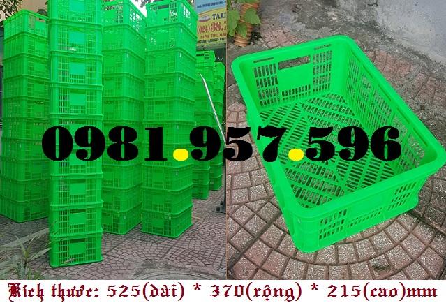 Sọt đựng rau củ, sọt đựng thực phẩm, sọt nhựa 525x370x215mm