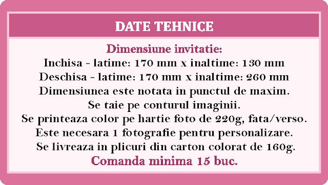 invitatii botez contur Dalmatian