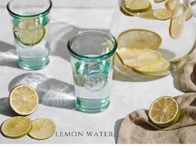Lemon juice helps to restore depleted potassium levels in the blood and restores proper functioning of the body