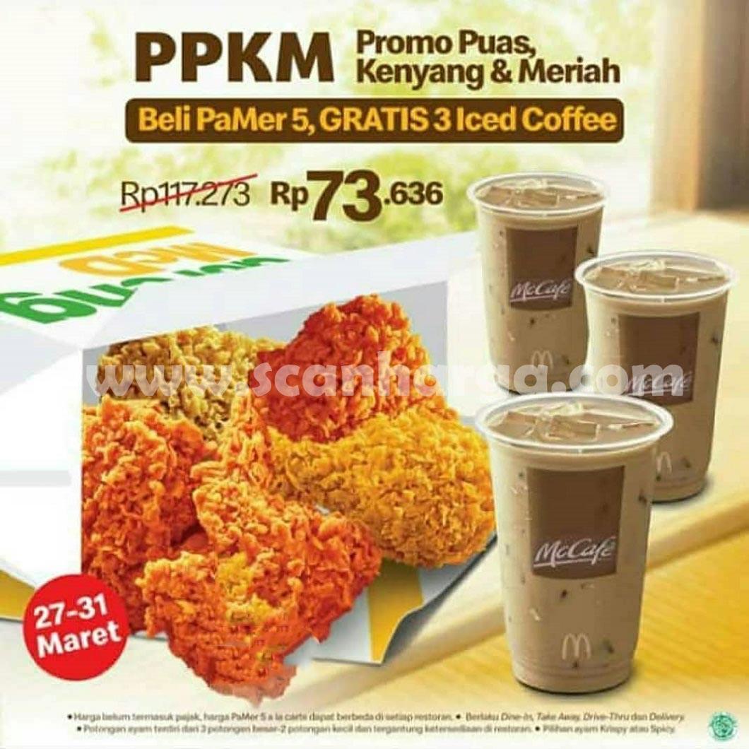 PPKM McDonalds 27-31 Maret 2021 - Promo Puas Kenyang Meriah