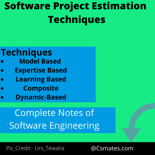 what are software project estimation techniques