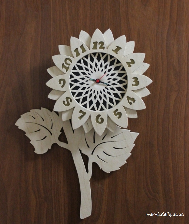 Decorative Wall Clock Flower Design Round 2018 CDR File Free