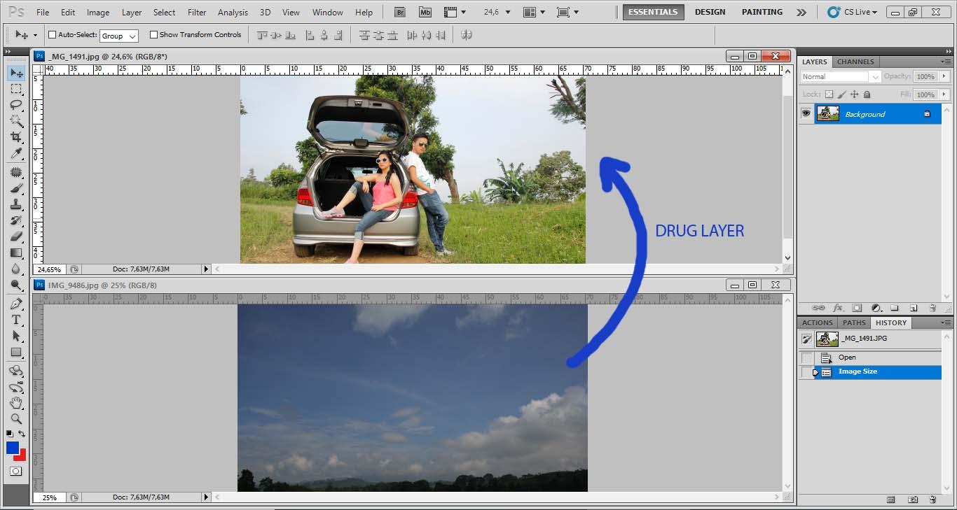 TUTORIAL EDITING PHOTOSHOP : CARA TERMUDAH MENGUBAH LANGIT ...