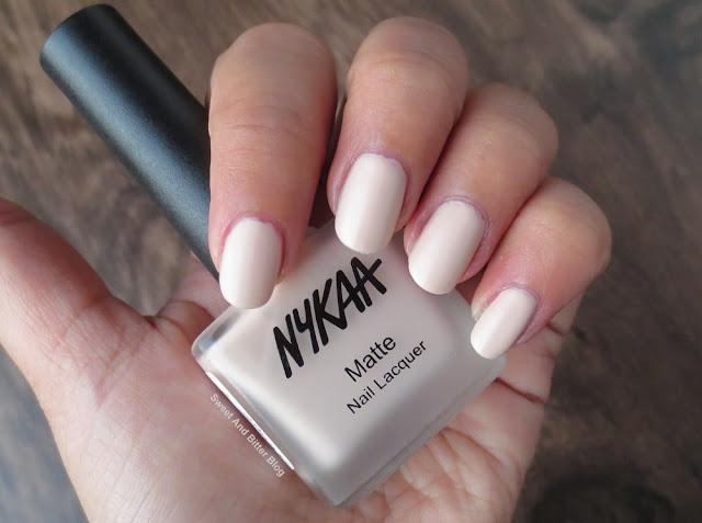 Nykaa Almond Crumble Matte Nail Polish Swatch