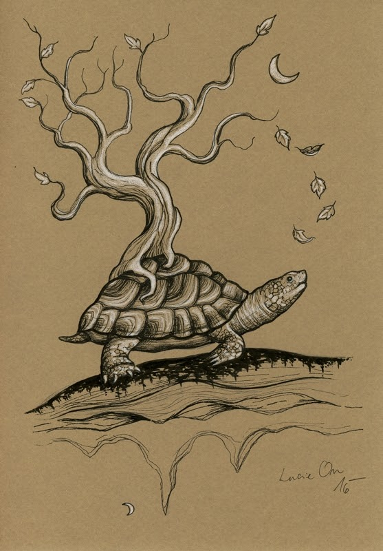 10-Putting-Down-Roots-Lucie-Ondruskova-LucieOn-A-Glimpse-of-Fairyland-Animals-in-Drawings-www-designstack-co