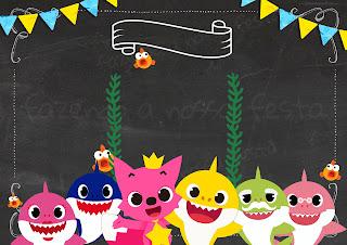 Baby Shark: Invitaciones para Imprimir Gratis.