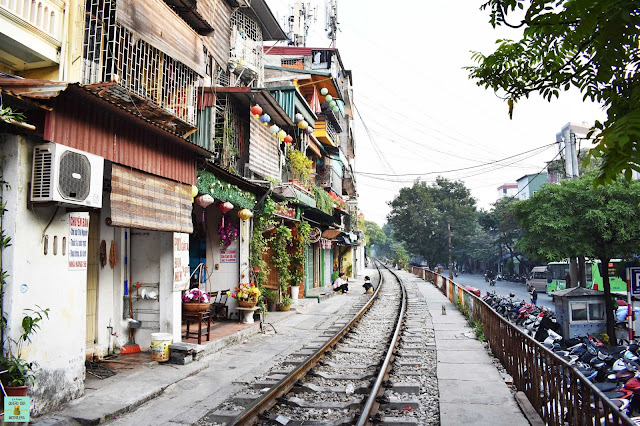Train Street de Hanoi, Vietnam