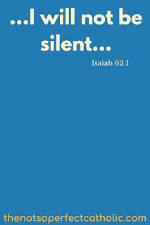 "The words ""I will not be silent"" on a blue background"