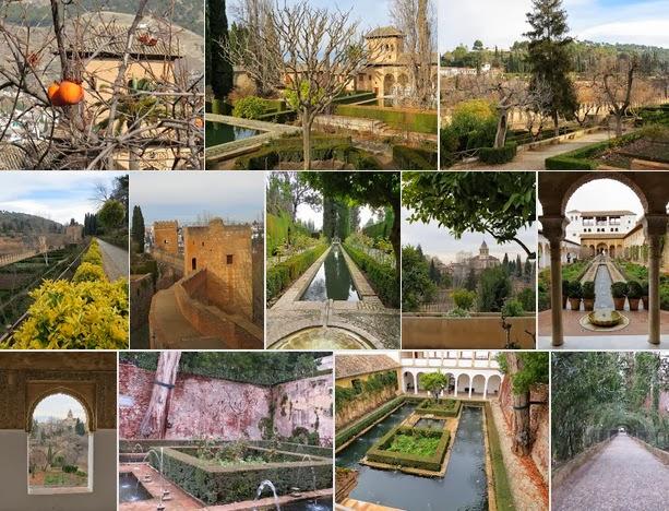 Christmas in Granada - Alhambra Gardens
