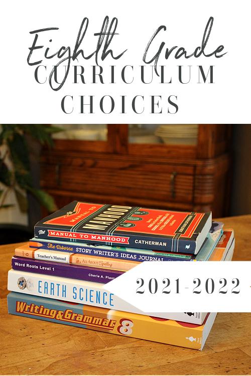 8th Grade Homeschool Curriculum 2021-2022 #homeschoolcurriculum #homeschool