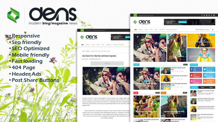 Dens Premium Responsive Blogger Template